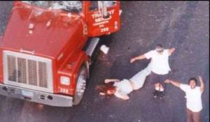 Breshikan Lives Matters demonstrators dragging an Aspergian man out of his truck and beating nearly to death