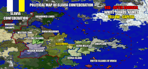 Political map of Slavia